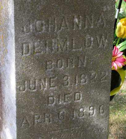 DEHMLOW, JOHANNA - Adams County, Wisconsin | JOHANNA DEHMLOW - Wisconsin Gravestone Photos