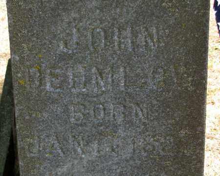DEHMLOW, JOHN - Adams County, Wisconsin | JOHN DEHMLOW - Wisconsin Gravestone Photos