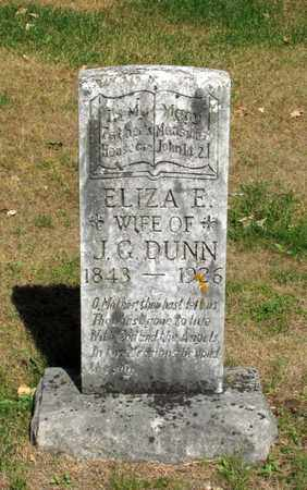 DUNN, ELIZA E. - Adams County, Wisconsin | ELIZA E. DUNN - Wisconsin Gravestone Photos