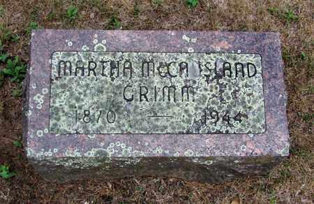 MCCAUSLAND GRIMM, MARTHA - Adams County, Wisconsin   MARTHA MCCAUSLAND GRIMM - Wisconsin Gravestone Photos