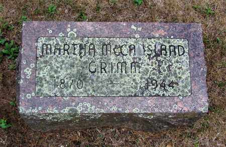 GRIMM, MARTHA - Adams County, Wisconsin | MARTHA GRIMM - Wisconsin Gravestone Photos