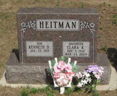 HEITMAN, CLARA K. - Adams County, Wisconsin | CLARA K. HEITMAN - Wisconsin Gravestone Photos