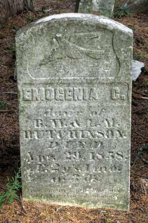 HUTCHINSON, EMOGENIA C. - Adams County, Wisconsin | EMOGENIA C. HUTCHINSON - Wisconsin Gravestone Photos