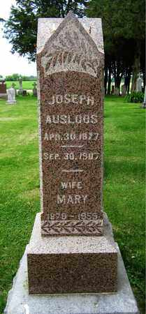 AUSLOOS, MARY - Brown County, Wisconsin | MARY AUSLOOS - Wisconsin Gravestone Photos
