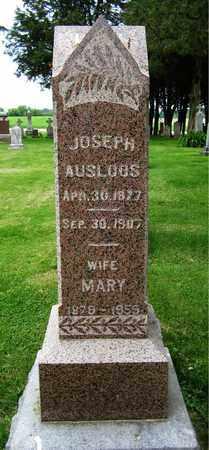 AUSLOOS, JOSEPH - Brown County, Wisconsin   JOSEPH AUSLOOS - Wisconsin Gravestone Photos
