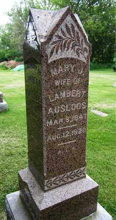 AUSLOOS, MARY J. - Brown County, Wisconsin | MARY J. AUSLOOS - Wisconsin Gravestone Photos