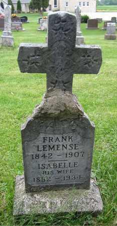 LEMENSE, FRANK - Brown County, Wisconsin   FRANK LEMENSE - Wisconsin Gravestone Photos