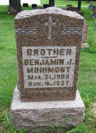 MOHIMONT, BENJAMIN J. - Brown County, Wisconsin | BENJAMIN J. MOHIMONT - Wisconsin Gravestone Photos
