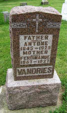 VANDRIES, ANTONE - Brown County, Wisconsin   ANTONE VANDRIES - Wisconsin Gravestone Photos