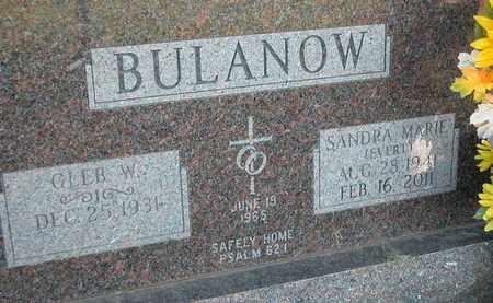 SCHOENWETTER BULANOW, SANDRA - Dodge County, Wisconsin   SANDRA SCHOENWETTER BULANOW - Wisconsin Gravestone Photos
