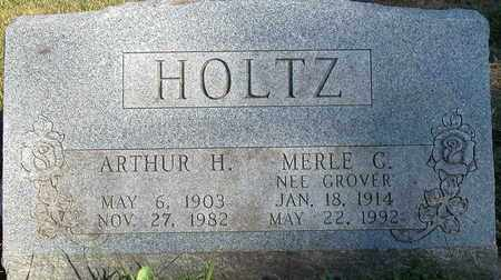GROVER HOLTZ, MERLE G. - Dodge County, Wisconsin | MERLE G. GROVER HOLTZ - Wisconsin Gravestone Photos