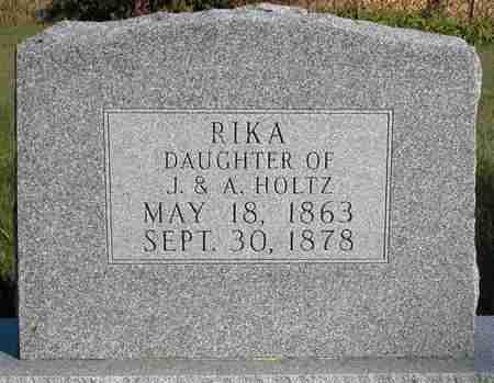 HOLTZ, RIKA - Dodge County, Wisconsin   RIKA HOLTZ - Wisconsin Gravestone Photos