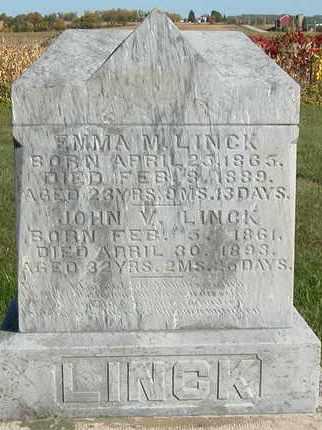 LINCK, JOHN V. - Dodge County, Wisconsin | JOHN V. LINCK - Wisconsin Gravestone Photos