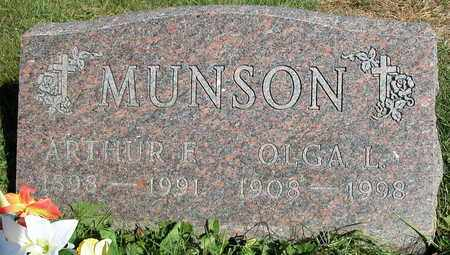 MUNSON, OLGA L. - Dodge County, Wisconsin | OLGA L. MUNSON - Wisconsin Gravestone Photos