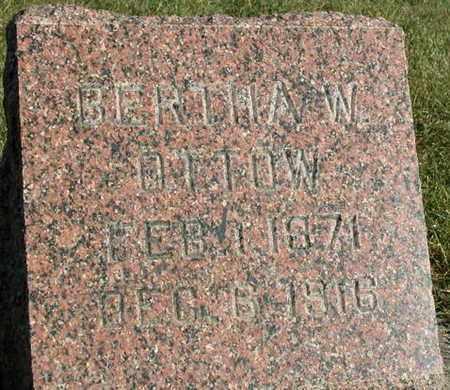 OTTOW, BERTHA W. - Dodge County, Wisconsin   BERTHA W. OTTOW - Wisconsin Gravestone Photos