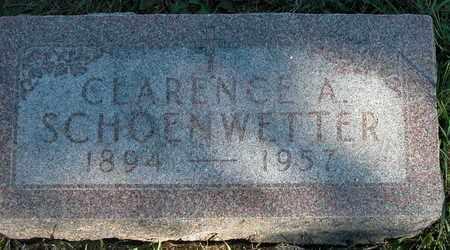 SCHOENWETTER, CLARENCE - Dodge County, Wisconsin   CLARENCE SCHOENWETTER - Wisconsin Gravestone Photos