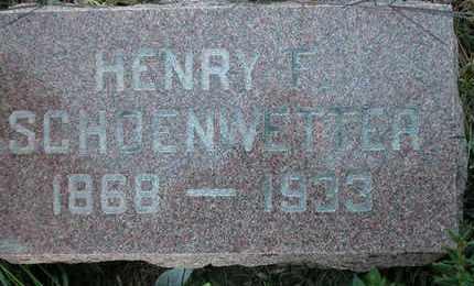 SCHOENWETTER, HENRY - Dodge County, Wisconsin | HENRY SCHOENWETTER - Wisconsin Gravestone Photos