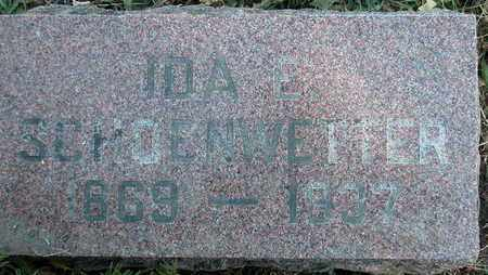 SCHOENWETTER, IDA - Dodge County, Wisconsin | IDA SCHOENWETTER - Wisconsin Gravestone Photos