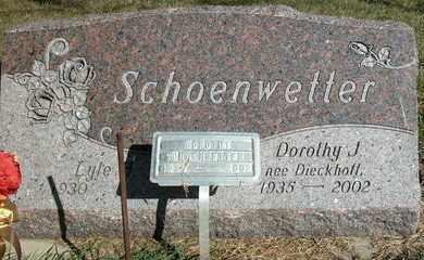 SCHOENWETTER, LYLE - Dodge County, Wisconsin   LYLE SCHOENWETTER - Wisconsin Gravestone Photos