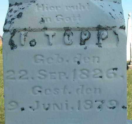 TOPP, I. - Dodge County, Wisconsin   I. TOPP - Wisconsin Gravestone Photos