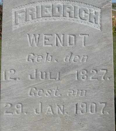 WENDT, FRIEDRICH - Dodge County, Wisconsin | FRIEDRICH WENDT - Wisconsin Gravestone Photos
