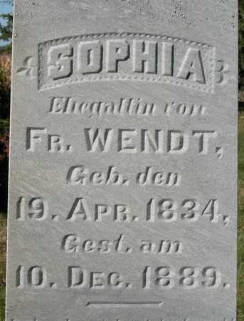 WENDT, SOPHIA - Dodge County, Wisconsin | SOPHIA WENDT - Wisconsin Gravestone Photos