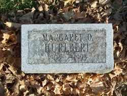 HURLBERT, MARGARET D. - Jefferson County, Wisconsin   MARGARET D. HURLBERT - Wisconsin Gravestone Photos