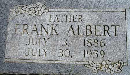 ALBERT, FRANK - Kewaunee County, Wisconsin | FRANK ALBERT - Wisconsin Gravestone Photos