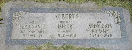 ALBERTS, ISIDORE - Kewaunee County, Wisconsin | ISIDORE ALBERTS - Wisconsin Gravestone Photos