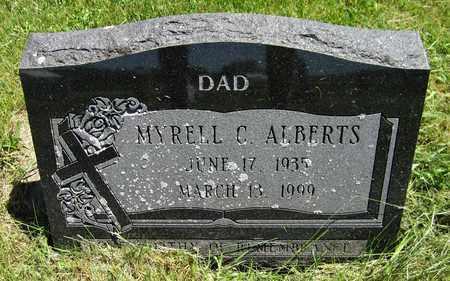 ALBERTS, MYRELL C. - Kewaunee County, Wisconsin | MYRELL C. ALBERTS - Wisconsin Gravestone Photos