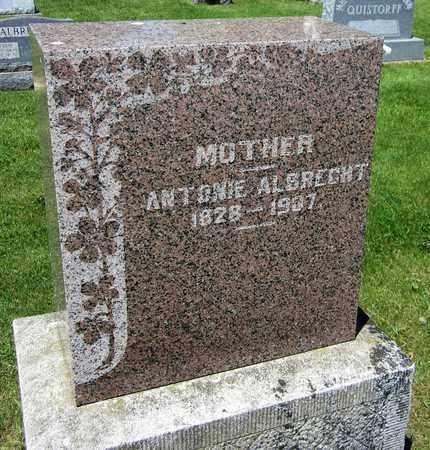 ALBRECHT, ANTONIE - Kewaunee County, Wisconsin   ANTONIE ALBRECHT - Wisconsin Gravestone Photos