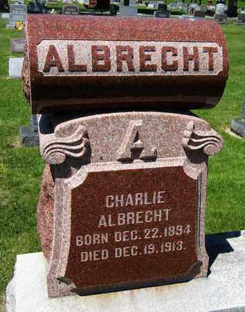 ALBRECHT, CHARLIE - Kewaunee County, Wisconsin   CHARLIE ALBRECHT - Wisconsin Gravestone Photos