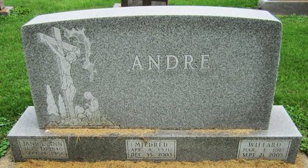 ANDRE, MILDRED - Kewaunee County, Wisconsin | MILDRED ANDRE - Wisconsin Gravestone Photos