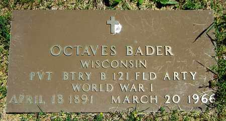 BADER, OCTAVES - Kewaunee County, Wisconsin | OCTAVES BADER - Wisconsin Gravestone Photos