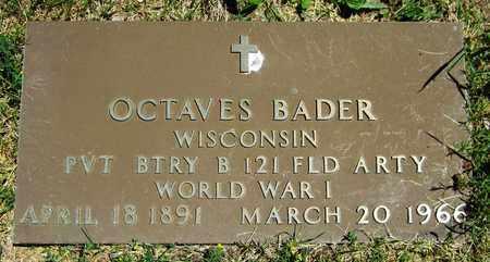BADER, OCTAVES - Kewaunee County, Wisconsin | OCTAVES BADER - Wisconsin Gravestone Photos