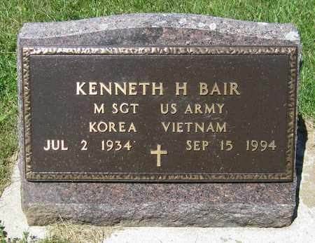 BAIR, KENNETH H. - Kewaunee County, Wisconsin | KENNETH H. BAIR - Wisconsin Gravestone Photos