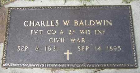 BALDWIN, CHARLES W. - Kewaunee County, Wisconsin | CHARLES W. BALDWIN - Wisconsin Gravestone Photos