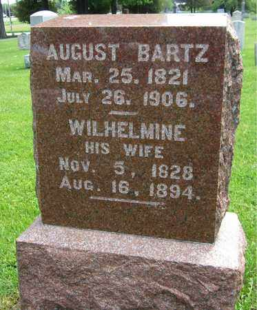 BARTZ, AUGUST - Kewaunee County, Wisconsin | AUGUST BARTZ - Wisconsin Gravestone Photos