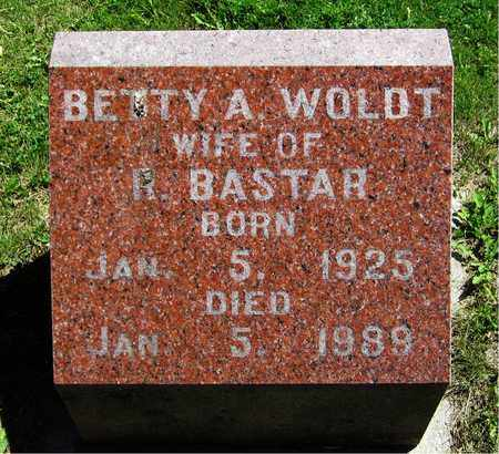 WOLDT BASTAR, BETTY A. - Kewaunee County, Wisconsin | BETTY A. WOLDT BASTAR - Wisconsin Gravestone Photos