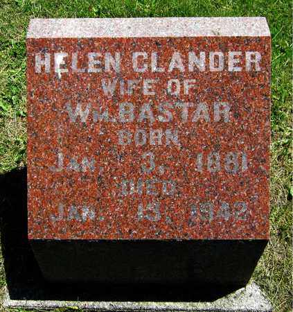 CLANDER BASTAR, HELEN - Kewaunee County, Wisconsin | HELEN CLANDER BASTAR - Wisconsin Gravestone Photos