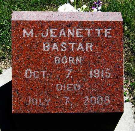 BASTAR, M. JEANETTE - Kewaunee County, Wisconsin | M. JEANETTE BASTAR - Wisconsin Gravestone Photos