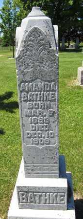 BATHKE, AMANDA - Kewaunee County, Wisconsin   AMANDA BATHKE - Wisconsin Gravestone Photos