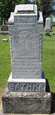 BATHKE, AUGUST - Kewaunee County, Wisconsin   AUGUST BATHKE - Wisconsin Gravestone Photos