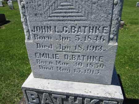BATHKE, EMILIE D. - Kewaunee County, Wisconsin | EMILIE D. BATHKE - Wisconsin Gravestone Photos