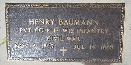 BAUMANN, HENRY - Kewaunee County, Wisconsin | HENRY BAUMANN - Wisconsin Gravestone Photos
