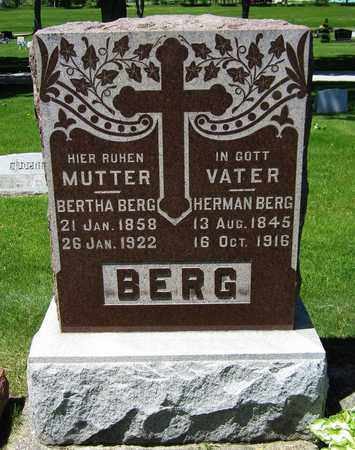 BERG, BERTHA - Kewaunee County, Wisconsin | BERTHA BERG - Wisconsin Gravestone Photos