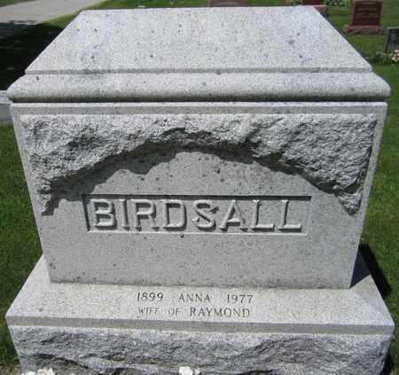 BIRDSALL, ANNA - Kewaunee County, Wisconsin | ANNA BIRDSALL - Wisconsin Gravestone Photos