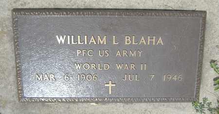 BLAHA, WILLIAM L. - Kewaunee County, Wisconsin | WILLIAM L. BLAHA - Wisconsin Gravestone Photos