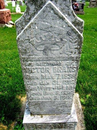 BRANS, VICTOR - Kewaunee County, Wisconsin | VICTOR BRANS - Wisconsin Gravestone Photos