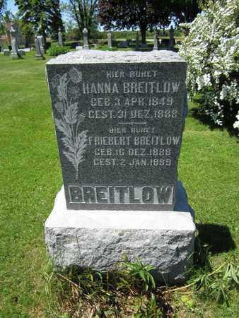 BREITLOW, FRIEBERT - Kewaunee County, Wisconsin | FRIEBERT BREITLOW - Wisconsin Gravestone Photos